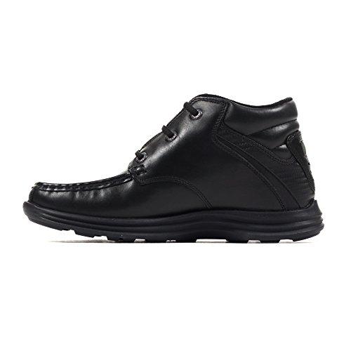 Kickers Reasan Leder Jungen Kinder Schule Stiefel Schuhe Schwarz