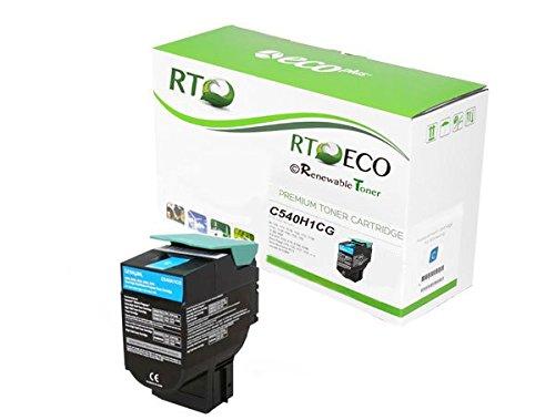 - Renewable Toner Compatible Toner Cartridge High Yield Replacement Lexmark C540H1CZ for X543 X544 X546 X548 C544 C543 C540 C546 (Cyan)