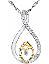 Luxury Necklace,Han Shi Silver Plated Zircon Jewelry Chain Mother's Day
