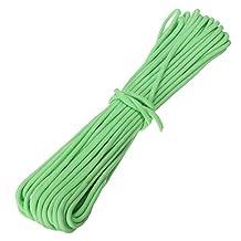 SODIAL(R) 550Lb Paracord Parachute Cord Nylon Luminous Glow in the Dark 9 Core Strand green