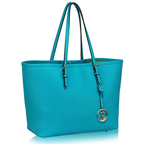 Shopper teal Quality Designer With Bag Ladies Fashion Charm Bags Handbag Shoulder Women's Style Cws00297 Handbags Leahward Celeb vawqUCC