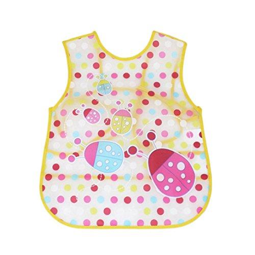 Baby Long Sleeve Art Smock Bib Waterproof Apron (Elephant) (Pink) - 4