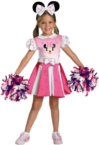 [Minnie Mouse Cheerleader Costume - Toddler Small(2T), Pink] (Minnie Mouse Outfit For Babies)