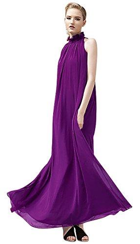 VSVO Halter Sleeveless Chiffon Dresses product image