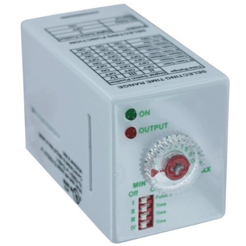 Dwyer® Series TDRSOX/SRX Time Delay Relay, TDRSRXP-120V, 12 Amp, DPDT Operation, 120 VDC/VAC, 11-pin - Vac Relay