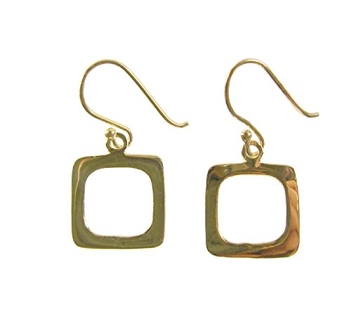 Macys Gold-Plated Modern Openwork Square Dangle Drop - Fashion Square Macys