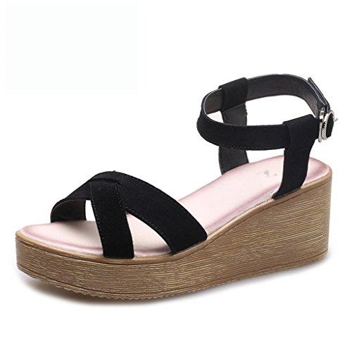 Zapatos 38 Firm cuñas De tacones Estudiante Bei Xing Bao size Suela Altos Mujer muffins Sandalias Gruesa EwPZZ7UF4q