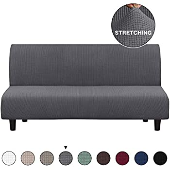 Amazon.com: ele ELEOPTION Futon Cover Armless Sofa Slipcover ...