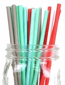 Just-Artifacts-Decorative-Paper-Straws-100pcs-Solid