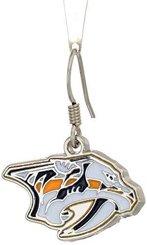 Siskiyou NHL Nashville Predators Chrome Dangle Earrings
