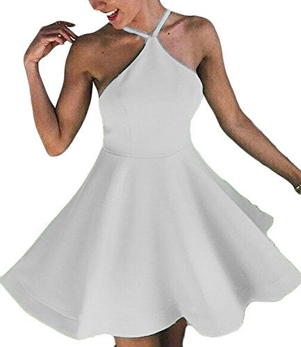 Dresses China Women's DKBridal Short Evening Dresses Bridesmaid Style White Stain Cocktail Homecoming 54axYnqYp