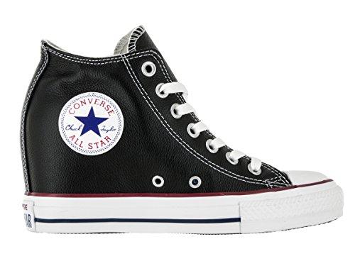 Converse - Converse Ct Lux Mid Zapatos Mujer Negro Cuero 549559C negro