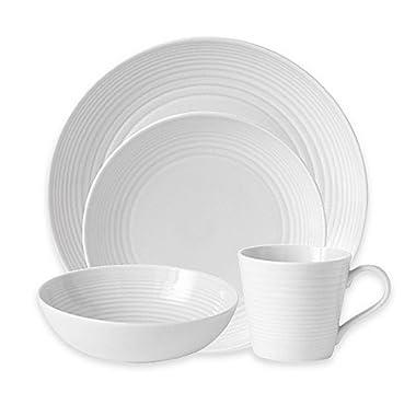 Gordon Ramsay by Royal Doulton Maze 16-Piece Dinnerware Set in White