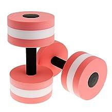MagiDeal Water Aerobics Dumbbell - Aquatic Fitness Barbell - Aqua Pool Exercise - Pink/Green