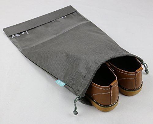 iwill CREATE PRO Portable Travel Shoes Storage Organizer Pouch for Suitcase, Gray, 10pcs by iwill CREATE PRO (Image #1)