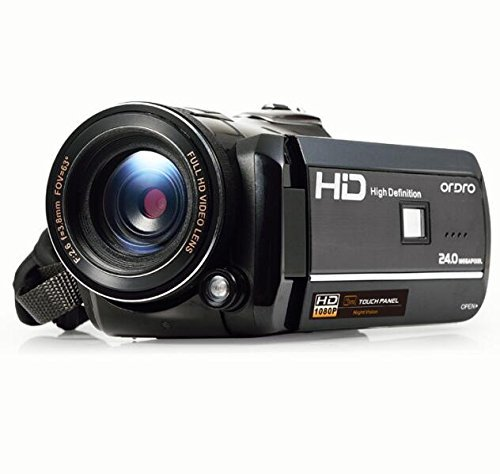 Ordro Full HD Digital Video Camera with Special IR LED Night Light and 3 Inch Touch Panel Display (Includes 8GB SD Card as a Free Bonus!) by Emperor of Gadgets by Emperor of Gadgets