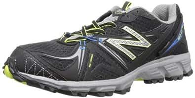 New Balance Men's MT610 Trail Running Shoe,Black/Silver,8 4E US