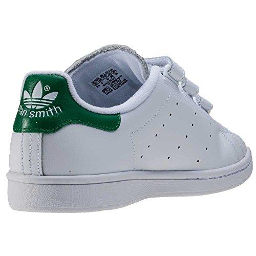 adidas Stan Smith Cf, Zapatillas de Deporte para Hombre Blanco (Ftwbla / Ftwbla / Verde)