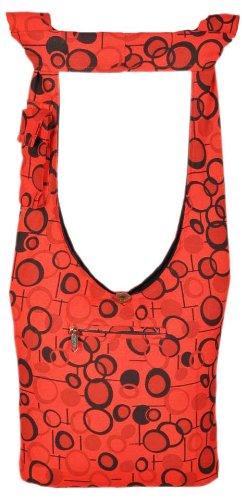 Bag Handmade crossbody La Red Dot Nook Polka Cotton in Shangri Nepal YOqBa