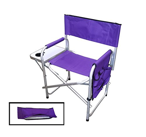 Supreme Embroidable Folding Director s Chair Purple