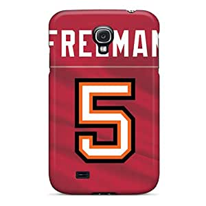 Durable Cell-phone Hard Covers For Samsung Galaxy S4 (gHl16641CANV) Customized Realistic Tampa Bay Buccaneers Skin