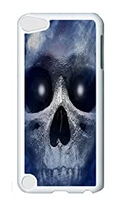 iPod 5 Case,VUTTOO Cover With Photo: Haunted Skull For iPod Touch 5 - PC White Hard Case