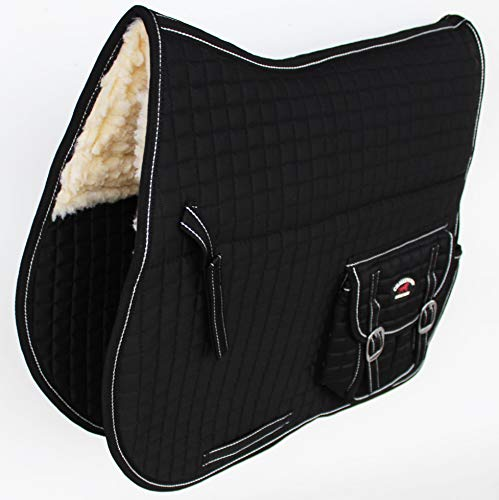 CHALLENGER Horse Quilted English Saddle PAD Pockets Fleece Australian Aussie Dressage 7272