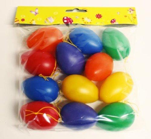 HAAC 24 Stück Ostereier Deko Eier Eierset Ostern bunt aus Kunststoff 6 cm