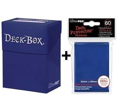 Ultra Pro Deck Box + 60 Small Size Protector Sleeves - Blue - Yu-Gi-Oh! - Japanese Mini: Amazon.es: Juguetes y juegos