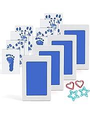 Scotamalone Baby Inkless Handprint and Footprint Ink Kits Pet Paw Print kit 4 Packs Medium Size