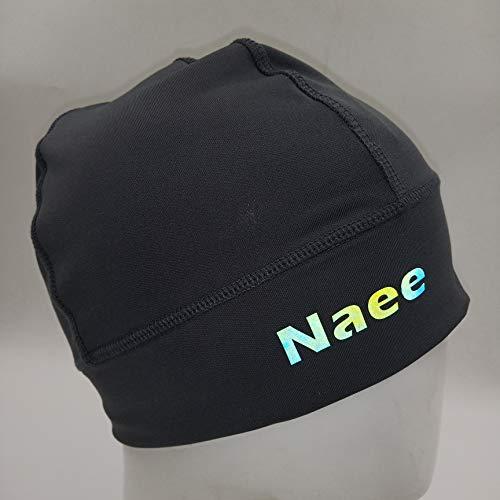 NAEE Helmet Liner Skull Cap Beanie Cycling Beanie with Reflective Logo (Black)