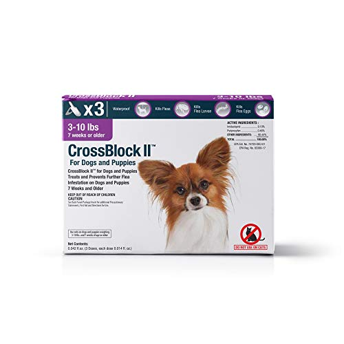 VetOne: CrossBlock II Kills & Prevents Fleas on Dogs & Puppies – Pack of 3 Ensures 3 Months of Protection