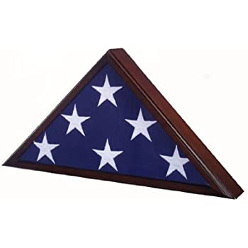 .com - michaels studio decor memorial flag case 5 x 9.5 dark ...