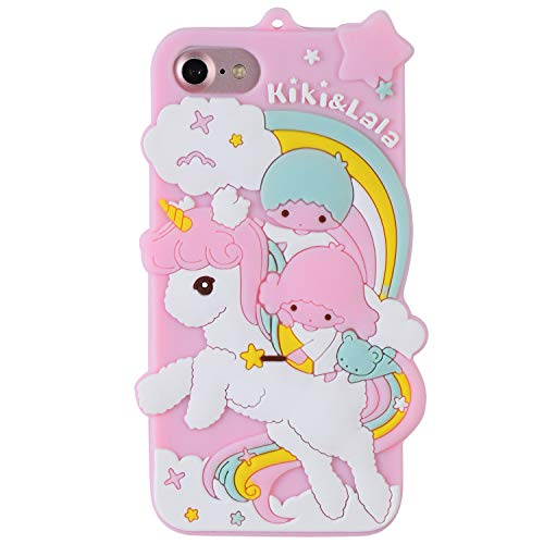 Twins Unicorn Case for iPhone 8 Plus 7 Plus 6 Plus 6S Plus,Soft Silicone 3D Cute Cartoon Animal Cover,Cool Kids Girls Gel Rubber Kawaii Character Shockproof Protector Cases for iPhone 8 7 6 Plus+ 5.5