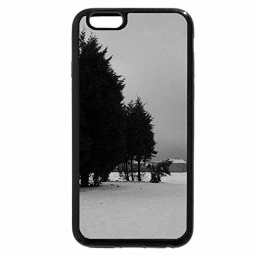 iPhone 6S Plus Case, iPhone 6 Plus Case (Black & White) - a winters day