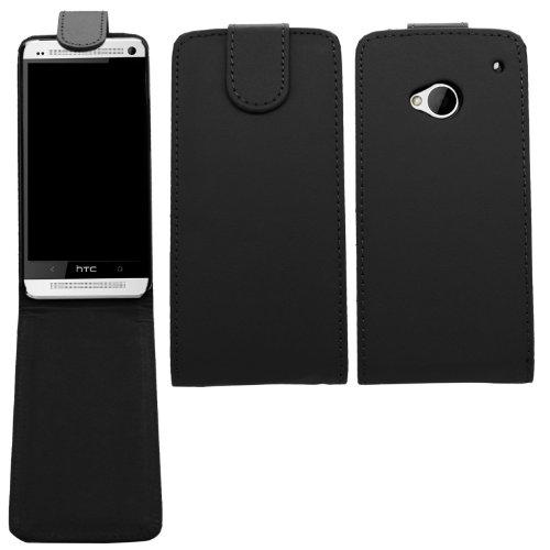 SAMRICK - HTC One M7 (2013 Edition) - Specially Designed Leather Flip Case - Black