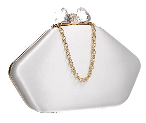 SWANKYSWANS Karie Box Shape Party Prom Wedding Night Out Celebrity Ladies Purse Evening Clutch ()