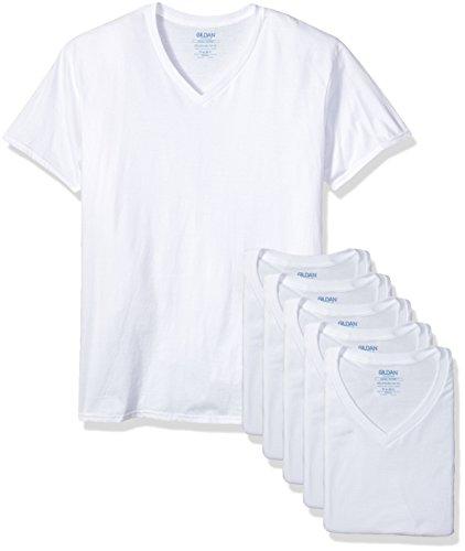 Gildan Platinum 6-Pack V-Neck T-Shirt White XX-Large for sale  Delivered anywhere in USA