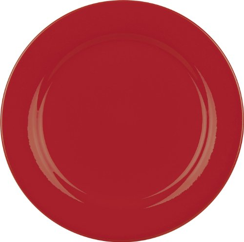 Red Accent Salad Plate - Waechtersbach Fun Factory II Red Salad Plates, Set of 4