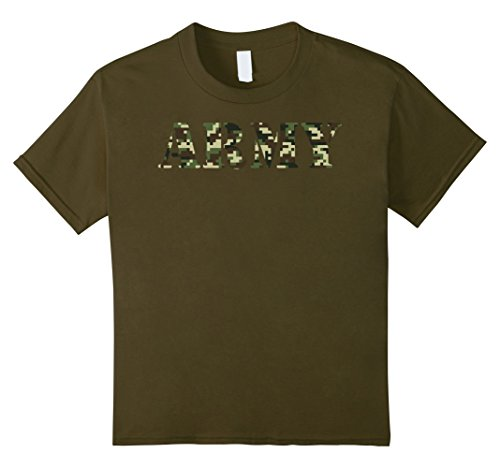 Pattern Costume Army Childrens (Kids Army Soldier Shirt Digital Camo Jungle Pattern Shirt 10)