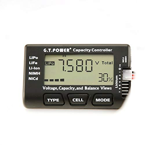Wikiwand G.T.Power LCD Voltage Capacity Checker for LiPo NiMH Nicd Battery Balance View by Wikiwand (Image #7)