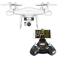 Rabing RC Drone FPV VR Wifi RC Quadcopter 2.4GHz 6-Axis Gyro Remote Control Drone with 2MP wide angle lens Camera Drone (White-1)