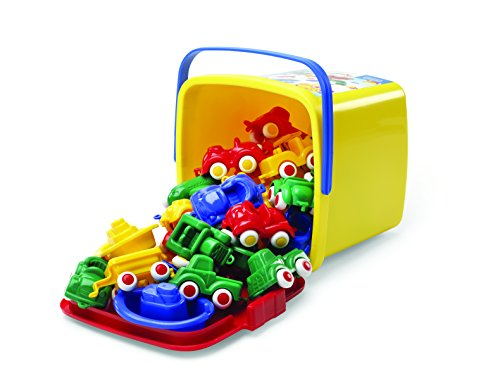 (Viking Toys Mini Chubbies Bucket Set - 30 Pieces - with Storage Bucket)