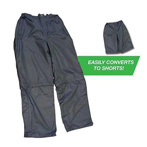 Weather Apparel 8024-050-XS Microfiber Zip Off Pants, Extra Small - Black