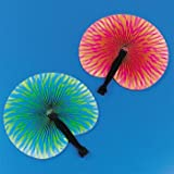 Paper Bright Print Fans (1 dz, 10″, colors may vary), Health Care Stuffs