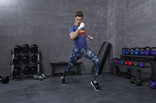 Red Plume Men's Compression Tights Fitness Shirt,Casual Quick-Dry Sports T-Shirt (M) by Red Plume (Image #6)