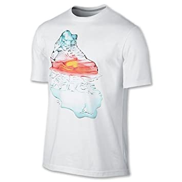 a5851506 Jordan Mens Retro 5 Fire N' Ice T-Shirt XXX-Large White/White: Amazon.co.uk:  Sports & Outdoors