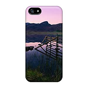 For Iphone 5/5s Premium Cases Covers Beautiful Lake Scene Nature Protective Cases