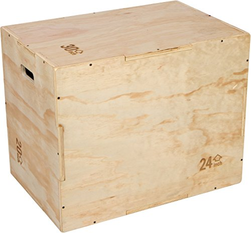 30' 3 in 1 Plywood Plyometric Jump Box for Training and Agility by Trademark Innovations