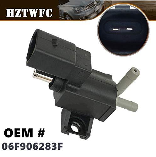 (HZTWFC Turbocharger Boost Solenoid Valve 06F906283F Compatible for Audi A3 A4 A5 TT VW CC Jetta GTI Passat)